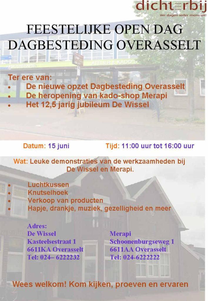Feestelijke Open Dag van Dagbesteding Overasselt @ Merapi en De Wissel